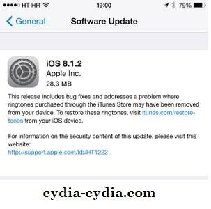 Cydia download iOS 8.1.2