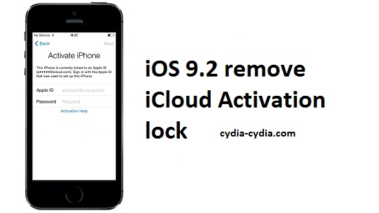 iOS 9.2 remove iCloud Activation lock