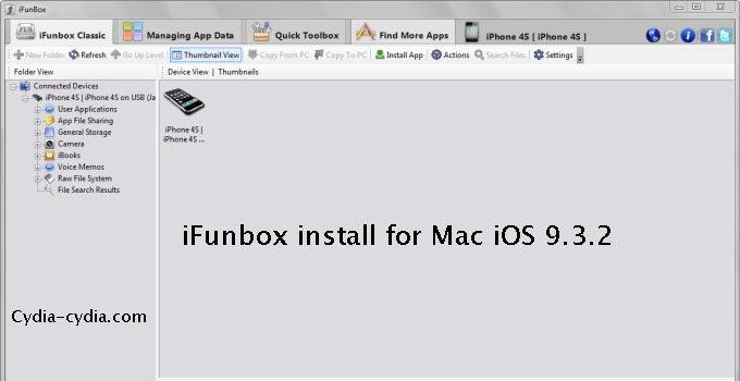 iFunbox install for Mac iOS 9.3.2