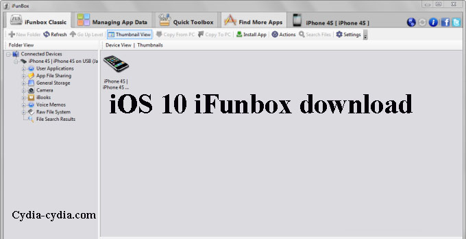 iOS 10 iFunbox download